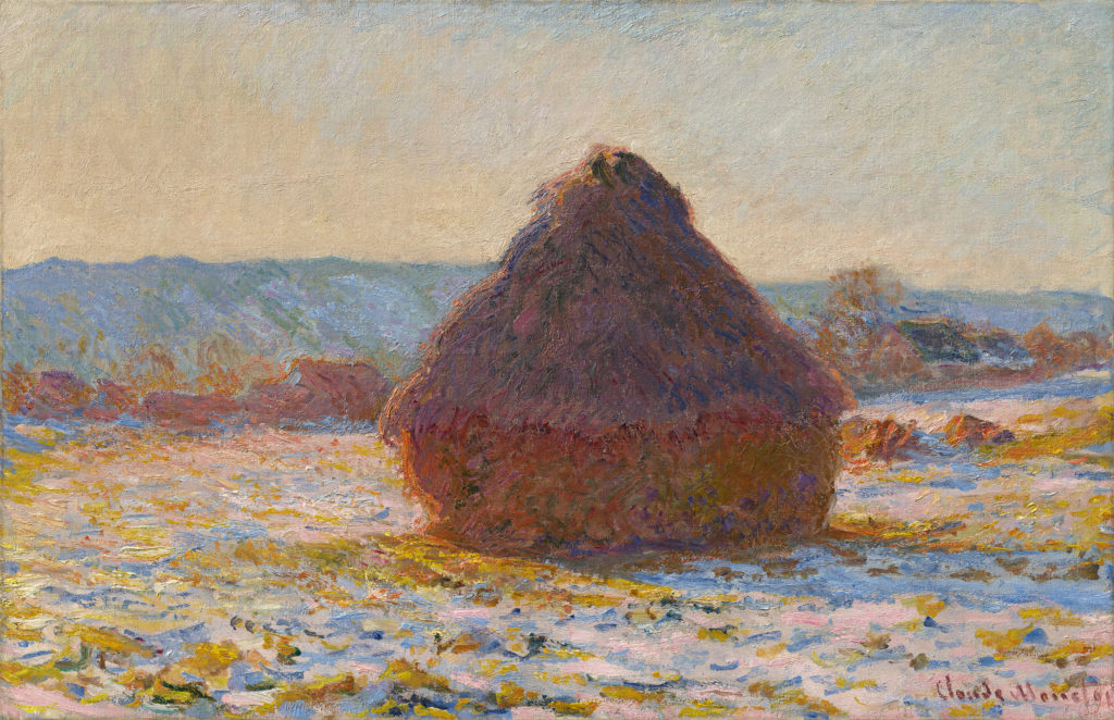 Claude Monet, Grainstack in the Sunlight, Snow Effect (1891). Courtesy Museum Barberini.