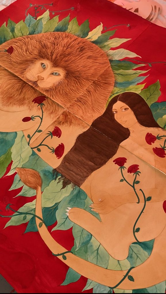 Artwork by Hiba Schahbaz. Photo courtesy of Art Production Fund.