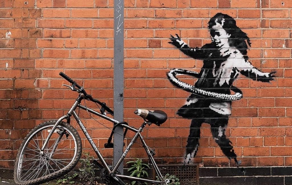 Banksy's or Itcher's recent mural in Nottingham. Courtesy of Banksy.