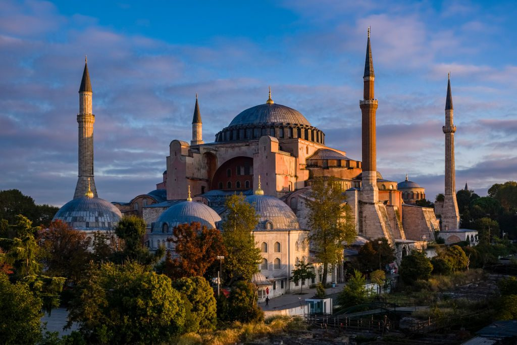 Hagia Sophia, a former Greek Orthodox Christian cathedral, later an Ottoman mosque. Photo by Frank Bienewald/LightRocket via Getty Images.