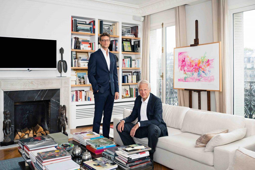 Arthur and Dominique de Villepin, 2020. Photo by Sophie Palmier. Courtesy of Villepin.