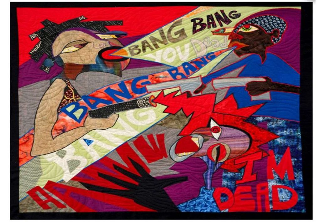 """Ellen Blalock, Bang Bang, You Dead! (from the series """"Not Crazy""""), (2018). Courtesy of the Everson Museum of Art."""