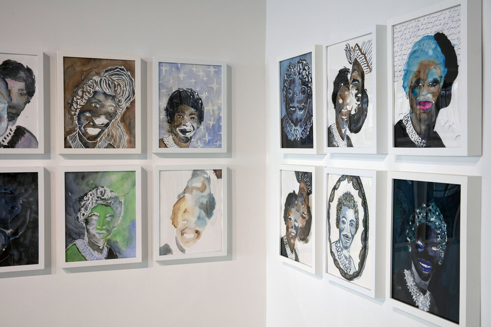 """Installation view of """"Kambui Olujimi WALK WITH ME."""" Photo courtesy of Project for Empty Space."""