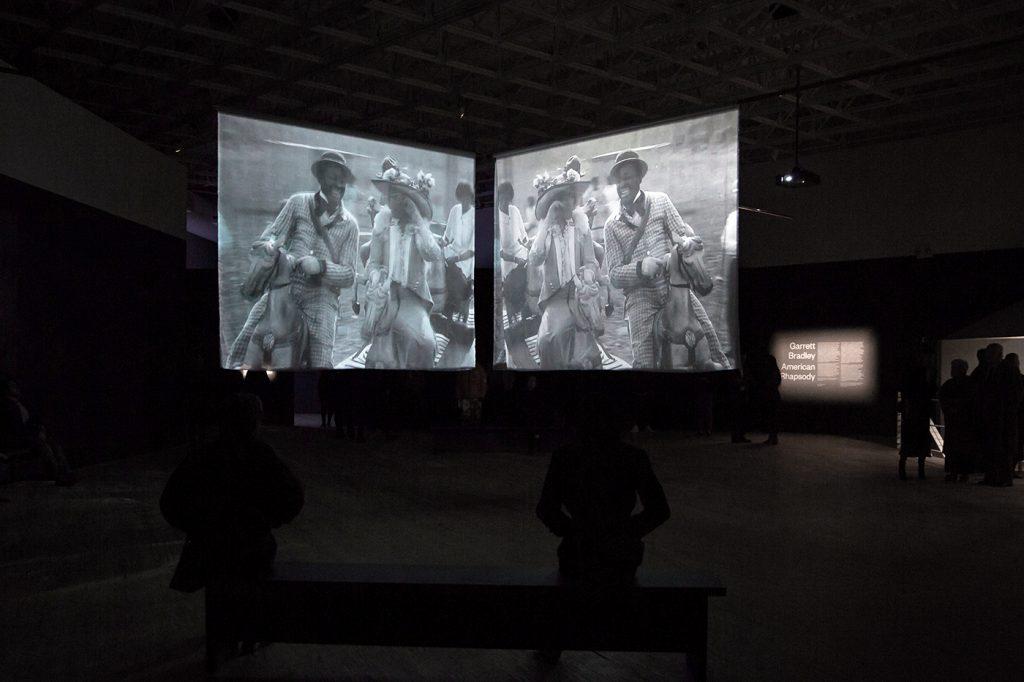 Installation view, Garrett Bradley, America (2019) at Contemporary Arts Museum Houston. Photo: Will Michels.