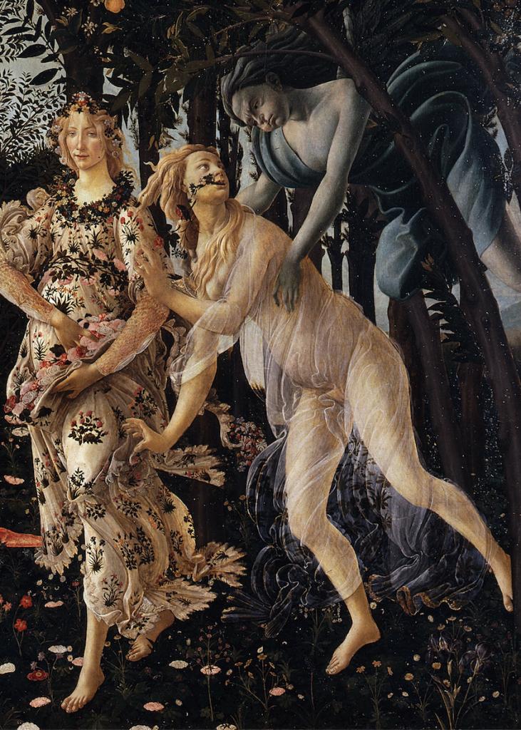 Detail of Primavera by Sandro Botticelli.