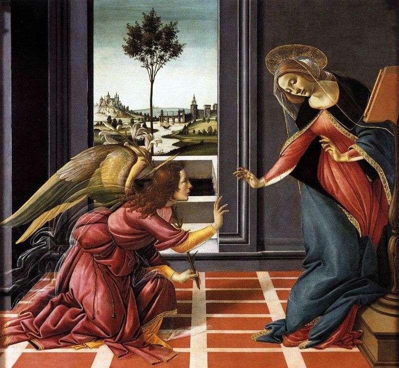 Sandro Botticelli, Cestello Annunciation (1481).