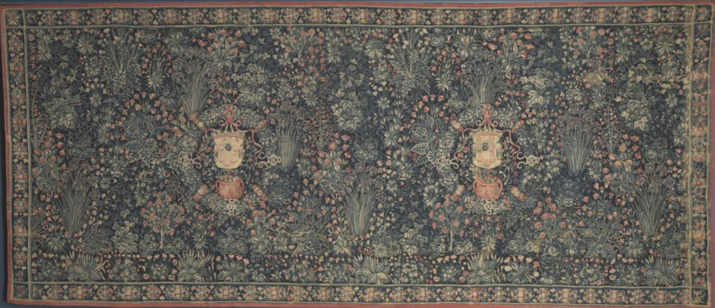Millefleurs Tapestry with Medici Coat of Arms (1520s). Courtesy of the Cleveland Art Museum.