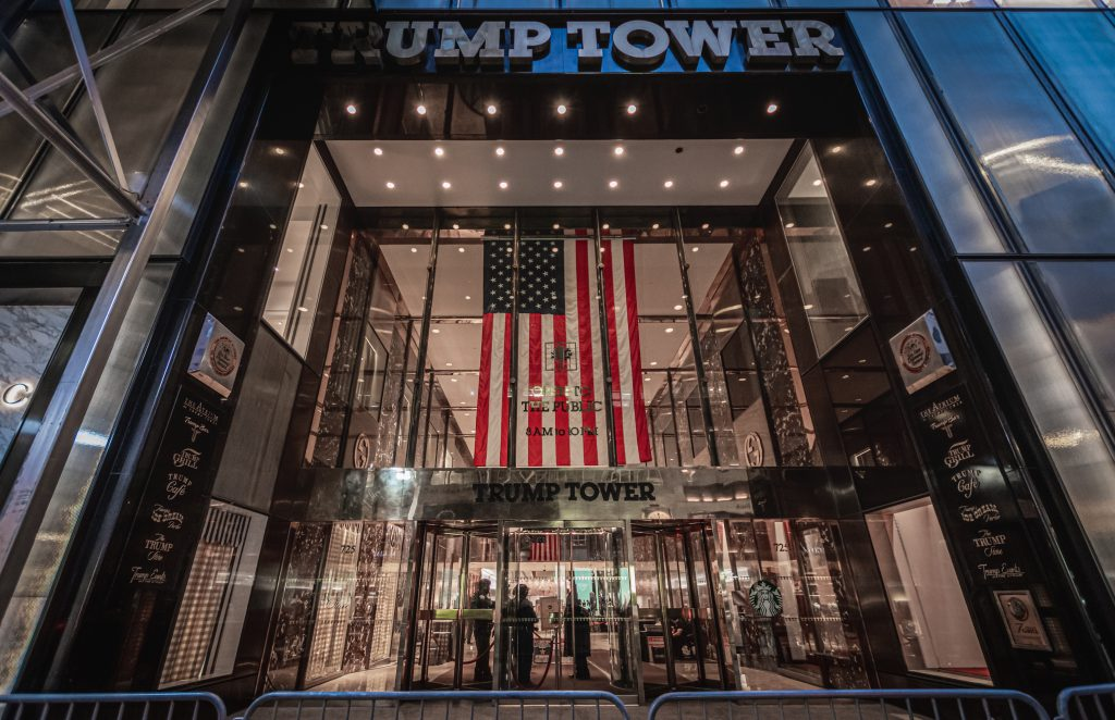 Trump Tower's Fifth Avenue entrance. (Photo by Erik McGregor/LightRocket via Getty Images)