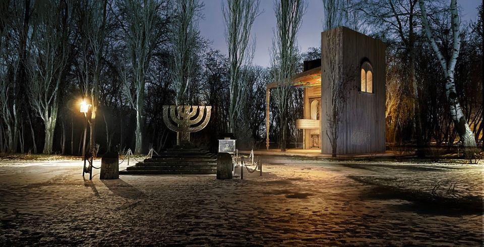 Manuel Herz Architekten's rendering of the Babyn Yar Synagogue. Image ©Manuel Herz Architekten.