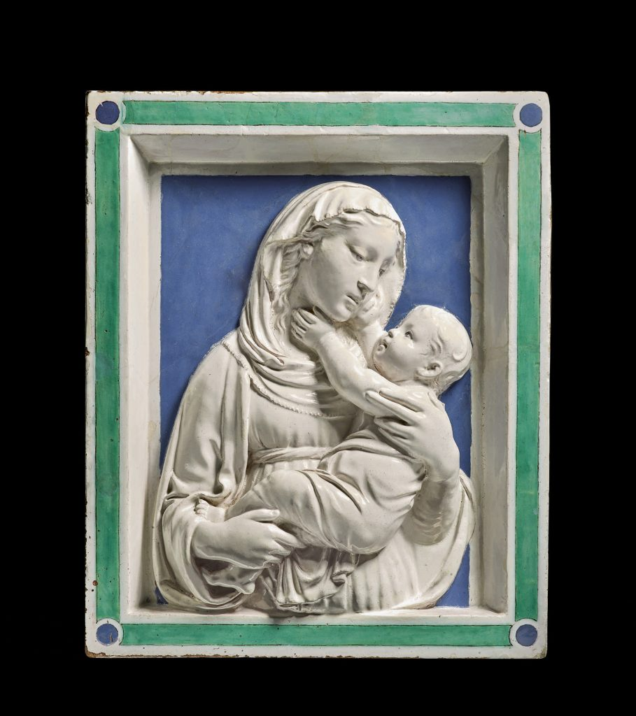 Luca della Robbia, Relief of the Madonna and child (ca. 1450). Courtesy of Sotheby's.