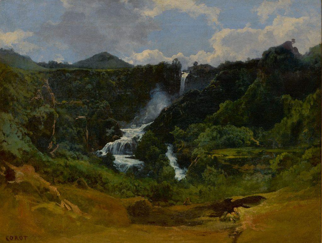 Jean Baptiste Camille Corot, <i>La Cascade de Terni</i>. Courtesy of Sotheby's.