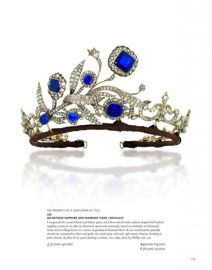 This 19th-century tiara, sold at Christie's on November 26, 2014 for just £74,500, is now presented at the Hermitage as a work by Fabergé.