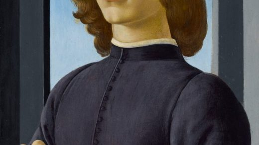Sandro Botticelli, Portrait of a Young Man Holding a Roundel (circa 1444/5–1510). Courtesy of Sotheby's.