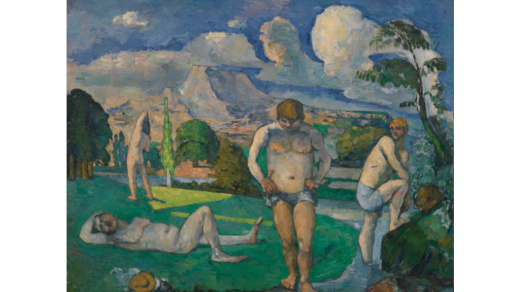 Paul Cézanne, Bathers at Rest (Baigneurs au repos) (circa 1876–1877). Collection of the Barnes Foundation.