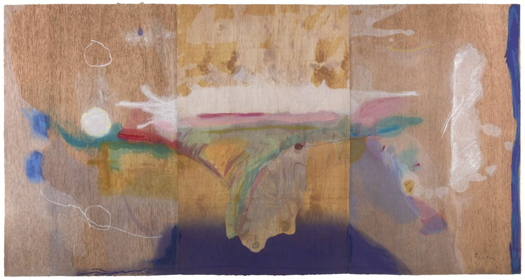Helen Frankenthaler, Madame Butterfly (2000). One-hundred-two color woodcut. ©2021 Helen Frankenthaler Foundation, Inc. / DACS / Tyler Graphic Ltd., Mount Kisco, NY