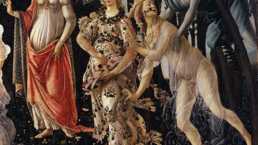 Detail of <i>Primavera</i> by Sandro Botticelli.