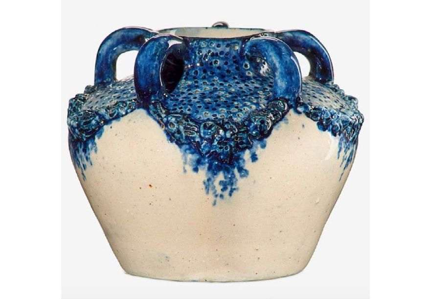 Susan Frackelton, Five-Handled Vase with Garlands (1901). Courtesy of the Everson Museum of Art.