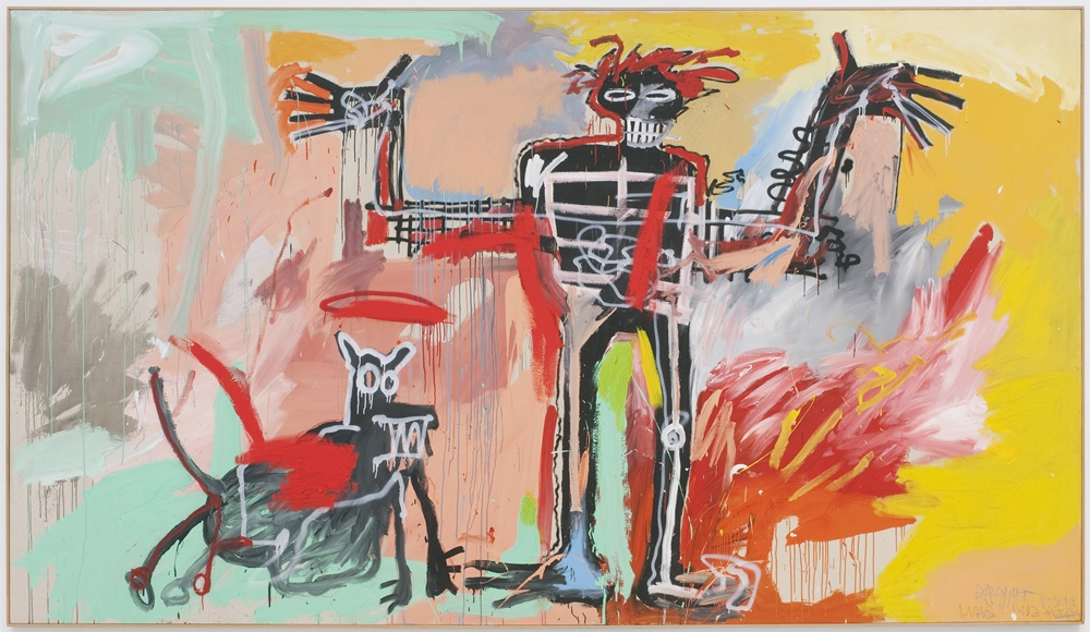 Griffin purchased Jean-Michel Basquiat's, Boy and Dog in a Johnnypump (1982) from Peter Brant in 2020 for over $100 million. © Estate of Jean-Michel Basquiat. Licensed by Artestar, New York.