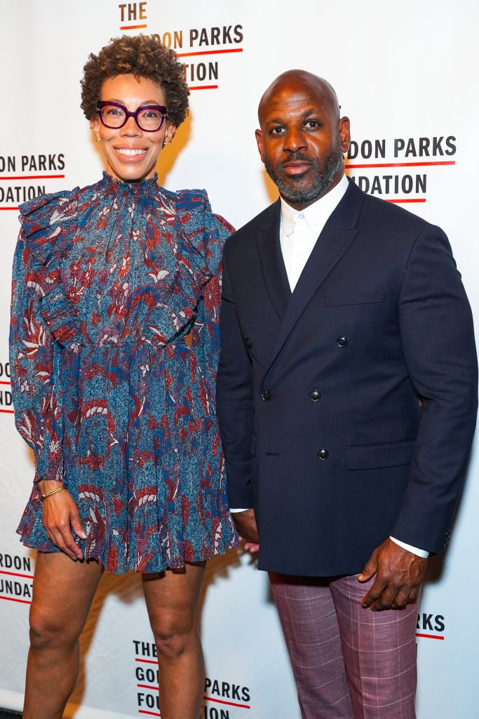 Amy Sherald and Kevin Pemberton in June 2019. Photo by Sean Zanni/Patrick McMullan via Getty Images.