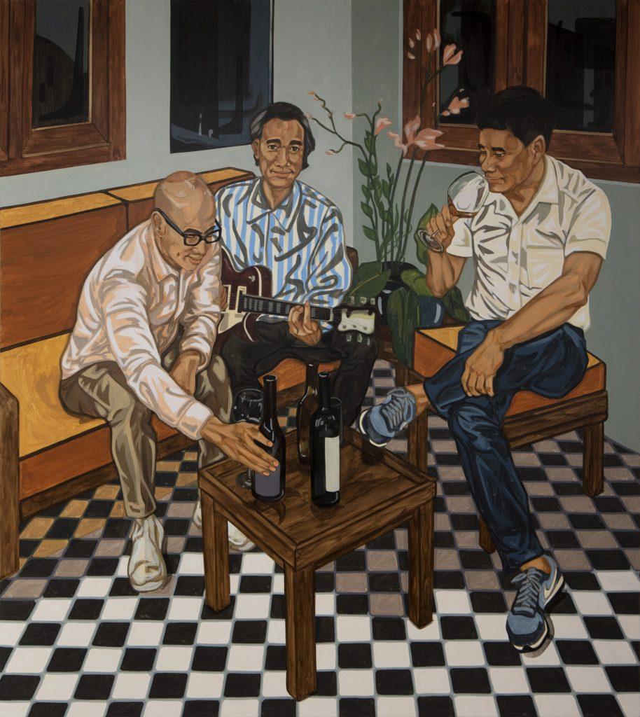 Jiab Prachakul, <em>3 Brothers </eM> (2020). Courtesy of Friends Indeed Gallery, San Francisco.