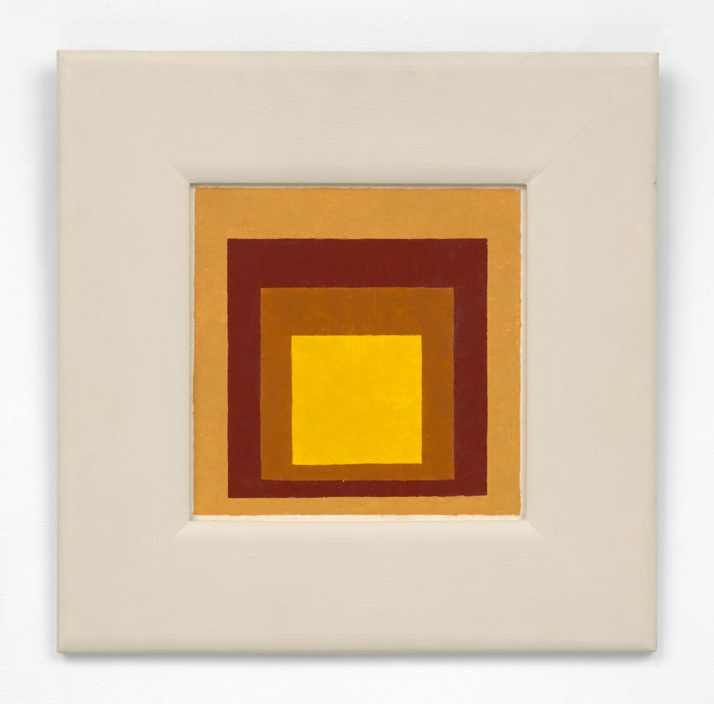 Josef Albers, Study to Homage to the Square (1954). © The Josef and Anni Albers Foundation / Artists Rights Society (ARS), New York. Courtesy The Josef and Anni Albers Foundation and David Zwirner