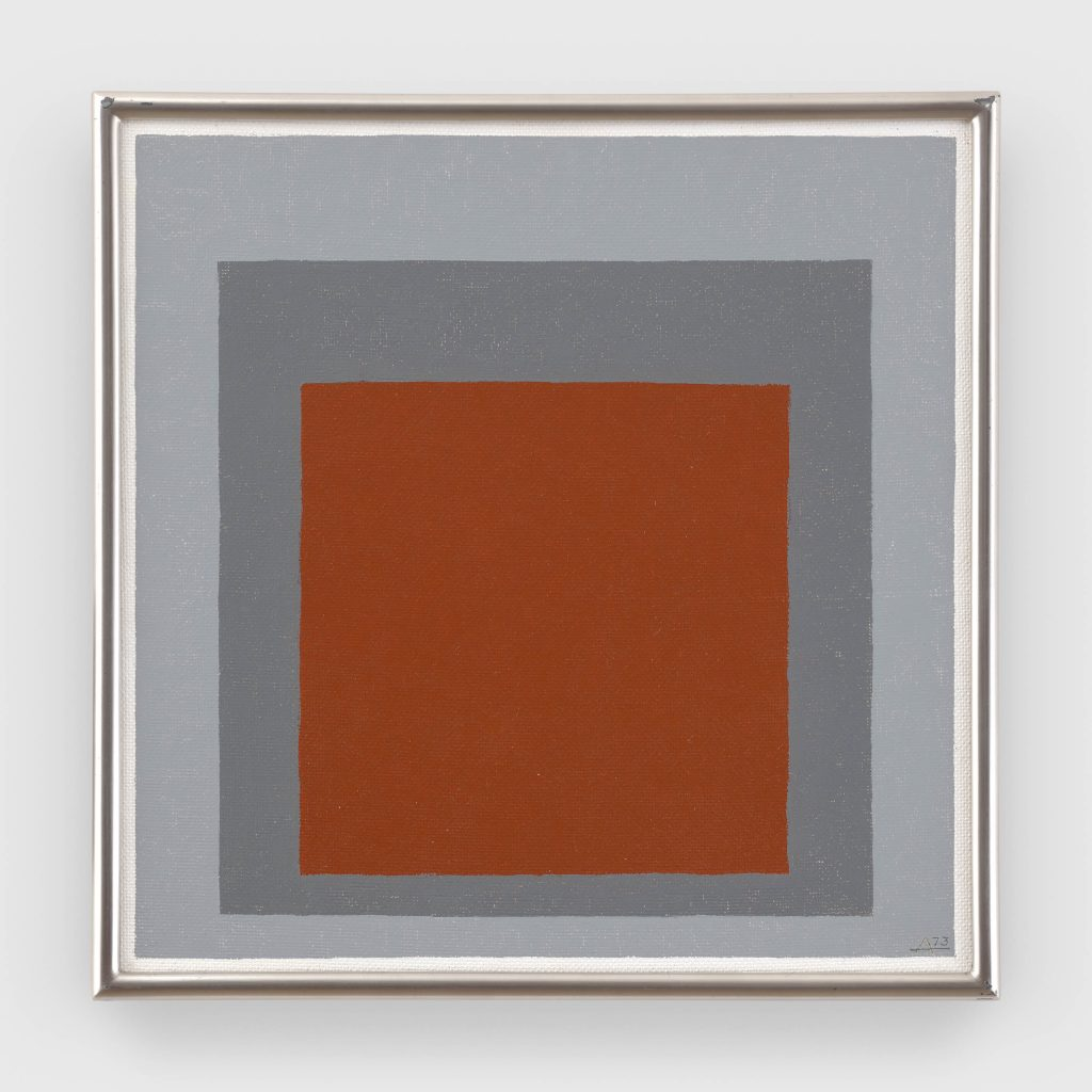 Josef Albers, Study to Homage to the Square (1973). © The Josef and Anni Albers Foundation / Artists Rights Society (ARS), New York. Courtesy The Josef and Anni Albers Foundation and David Zwirner