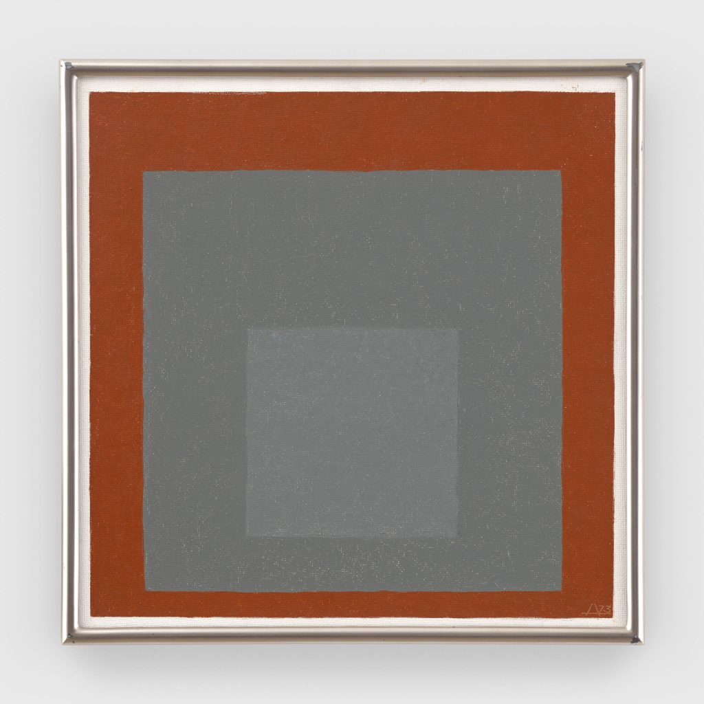 Josef Albers, Study to Homage to the Square (1973). © The Josef and Anni Albers Foundation / Artists Rights Society (ARS), New York. Courtesy The Josef and Anni Albers Foundation and David Zwirner.