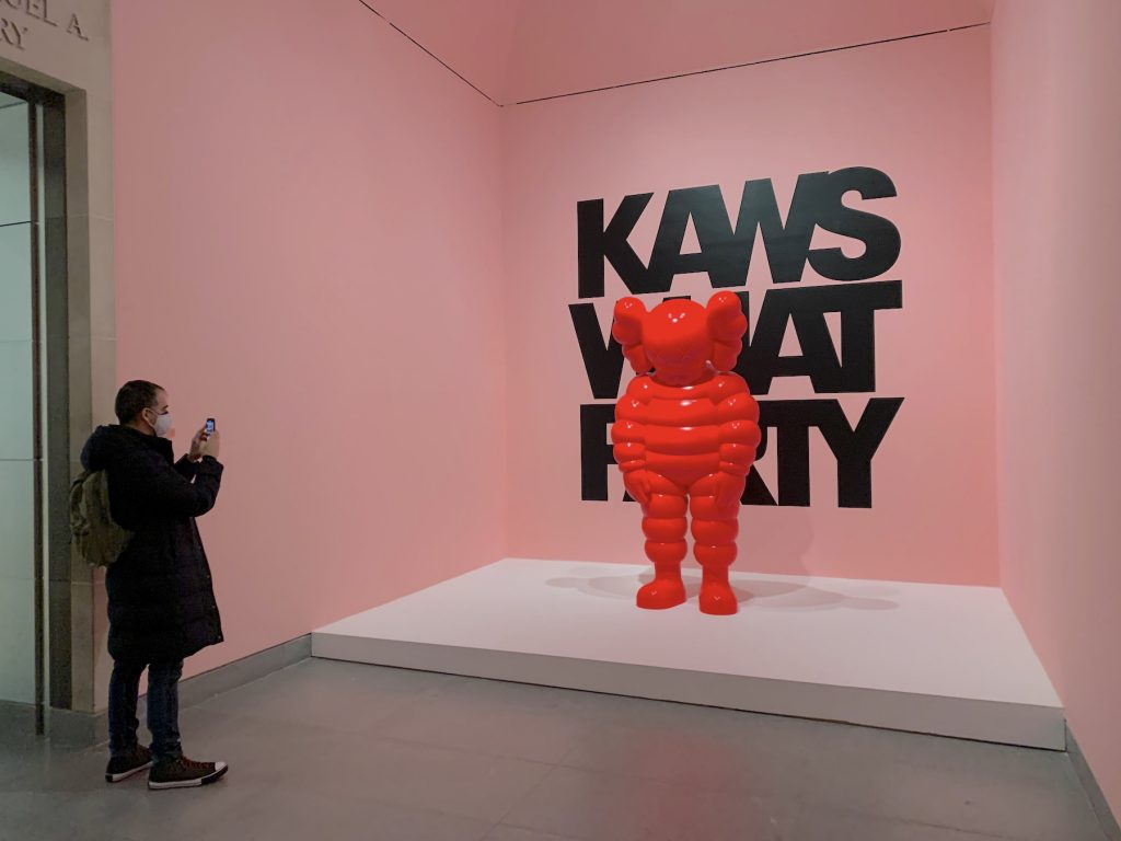 """Entry to """"KAWS: What Party"""" at the Brooklyn Museum. (Photo by Ben Davis)"""