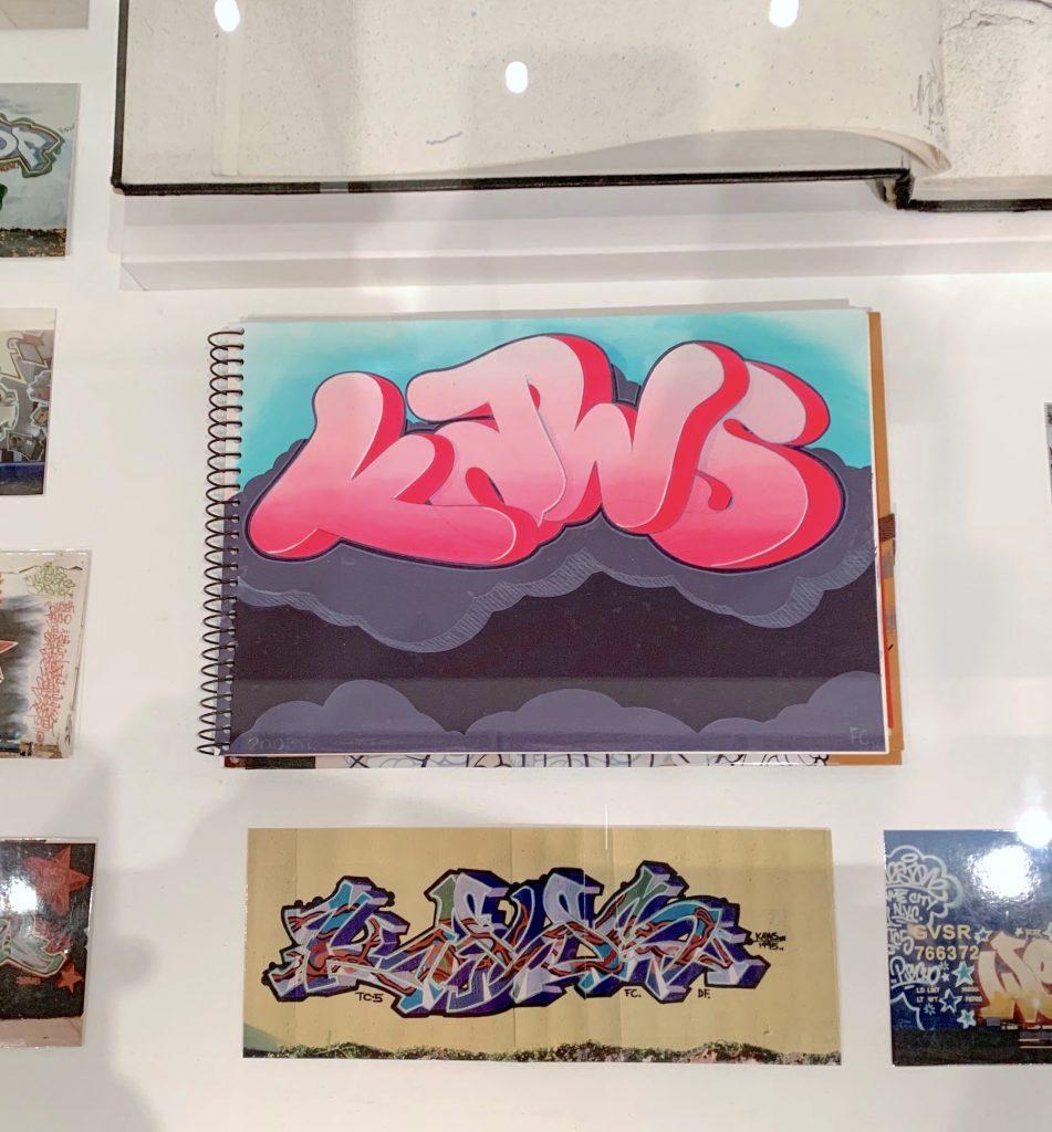 Book from KAWS's graffiti career (ca. 1990s). (Photo by Ben Davis)