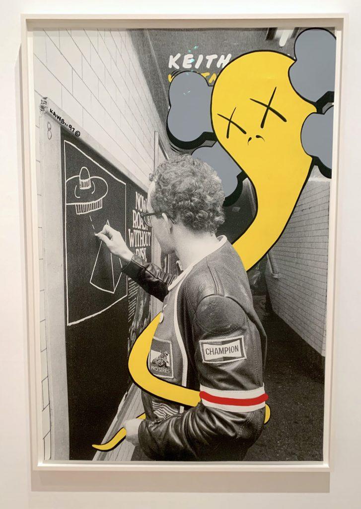 KAWS, <em>Untitled (Haring)</em> (1997). (Photo by Ben Davis)