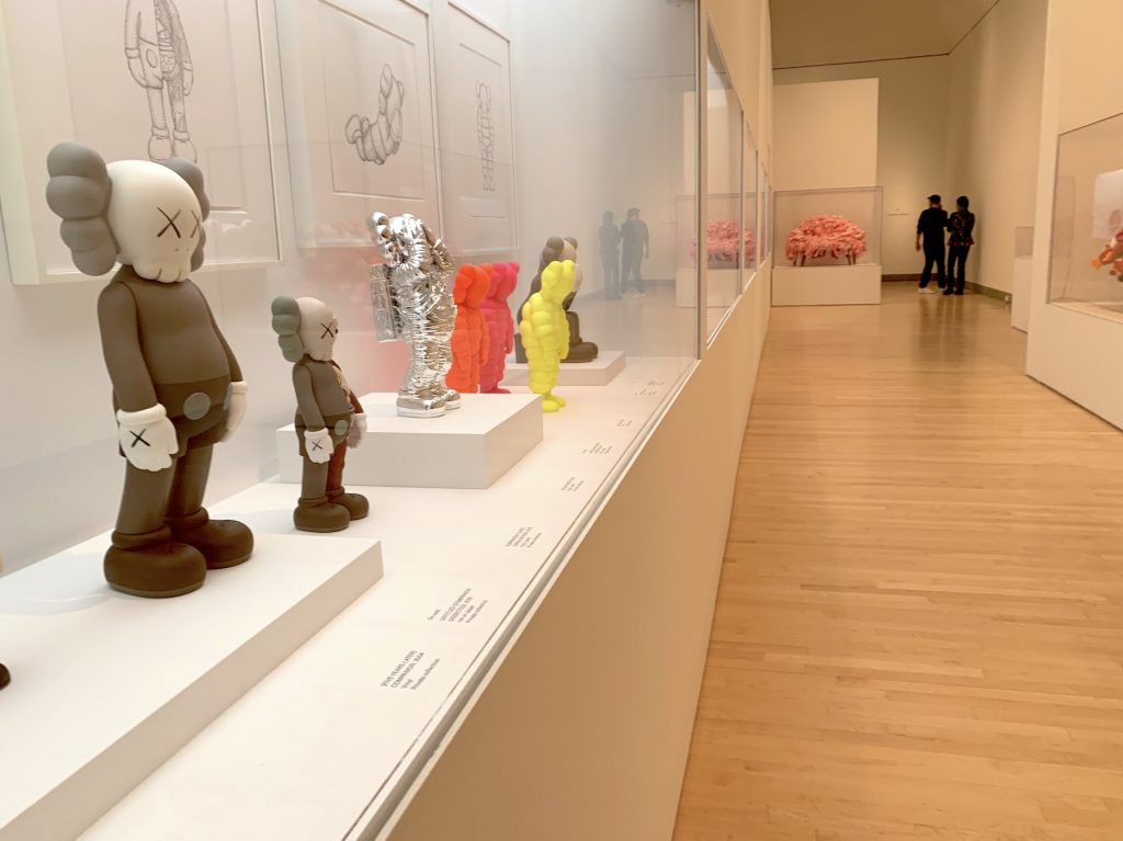 """Installation view of """"KAWS: What Party"""" at the Brooklyn Museum. (Photo by Ben Davis)"""
