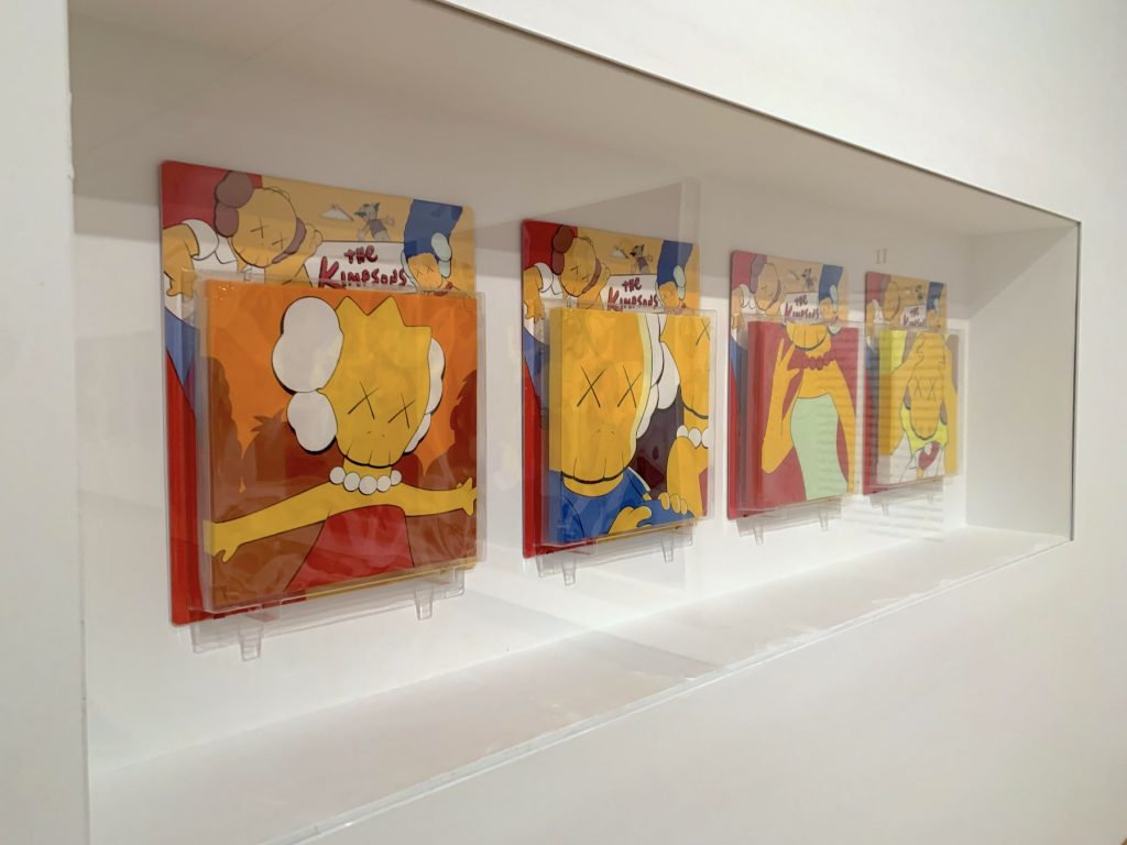"""KAWS, <em>Untitled (Kimpsons)</em> from the """"Package Painting Series"""" (2001). (Photo by Ben Davis)"""