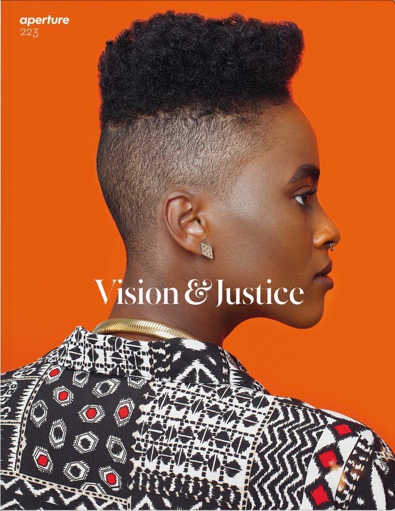 """One of two covers of <em>Aperture</em> 223, """"Vision and Justice,"""" featuring Awol Erizku, <em>Untitled (Forces of Nature #1)</em> (2014)."""