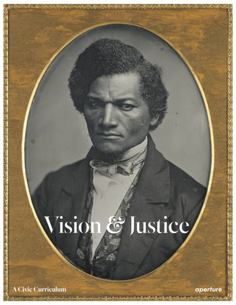 """Cover of <em>Aperture</em>'s second """"Vision & Justice"""" issue, a free publication released on the occasion of """"Vision & Justice: A Convening"""" with the Vision & Justice Project."""