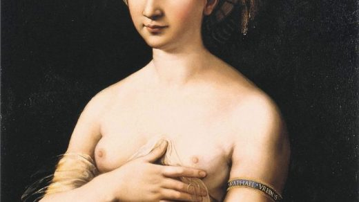 Raphael, La Fornarina (1518–1520). Courtesy of Wikimedia Commons.