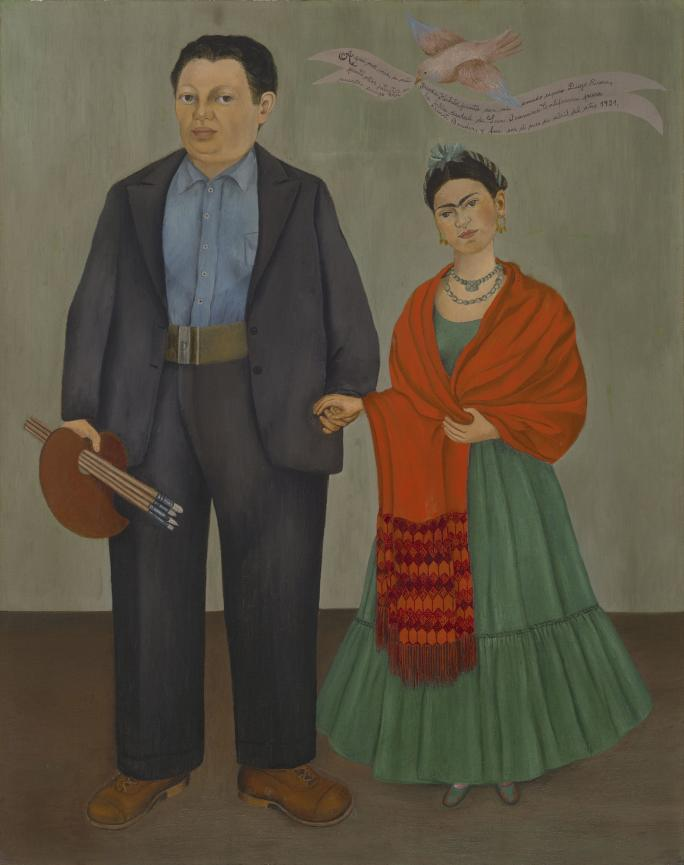 Frida Kahlo, Frieda and Diego Rivera (1931). Collection of the Museum of Modern Art, San Francisco.