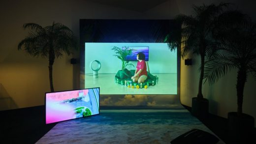 Installation view of Cao Fei's Isle of Instability (2020) commissioned by Audemars Piguet Contemporary, on view at West Bund Art & Design, Shanghai. Image courtesy of the artist and Audemars Piguet.