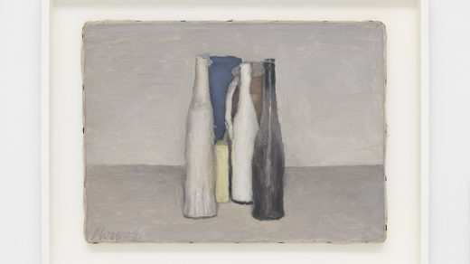 Giorgio Morandi, <i>Natura morta (Still Life)</i> (1957). © Artists Rights Society (ARS), New York/SIAE, Rome. Courtesy David Zwirner.