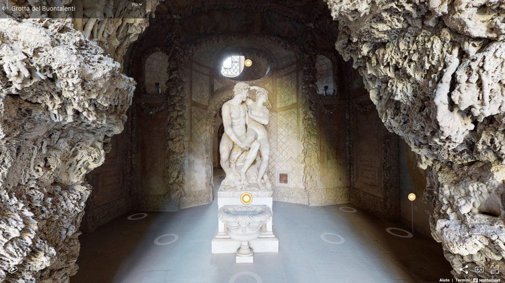 The Grotta Buontalenti in 3D. Image courtesy the Uffizi Galleries.