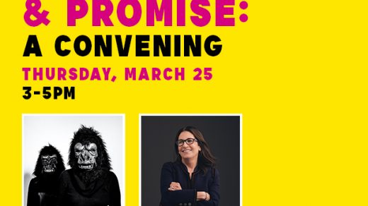 """Women, Power & Promise: A Convening"" at the Newark Museum of Art, featuring the Guerrilla Girls and Bobbi Brown."