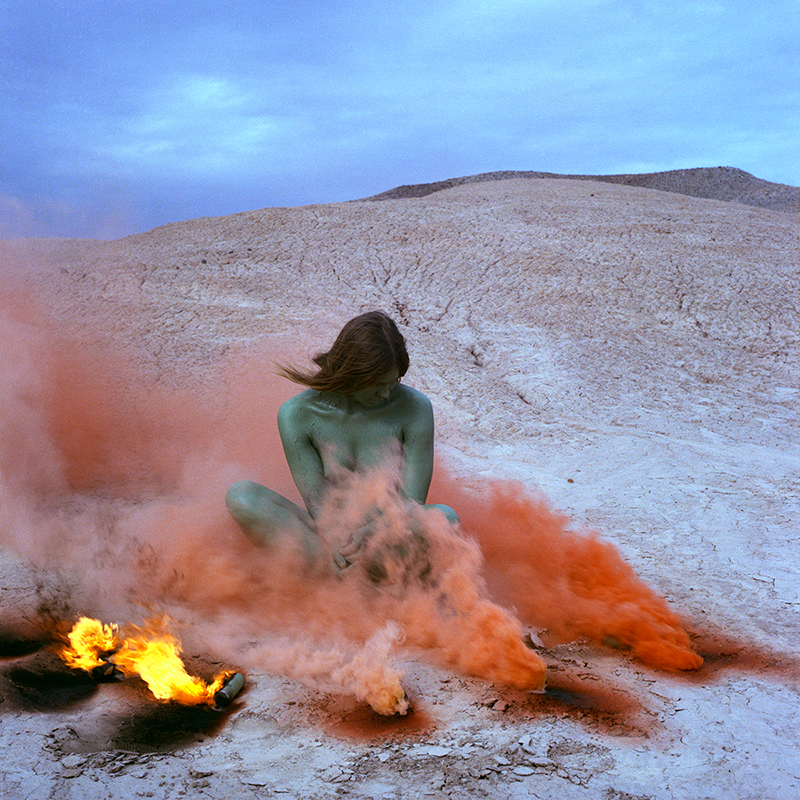 Judy Chicago, Immolation (1972); from Women and Smoke (2018). Photo courtesy of Nina Johnson.