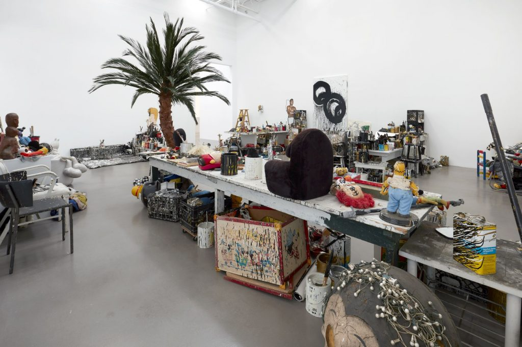 """Joyce Pensato: Fuggetabout It (Redux)"" installation view (2021). Photo courtesy of Petzel."