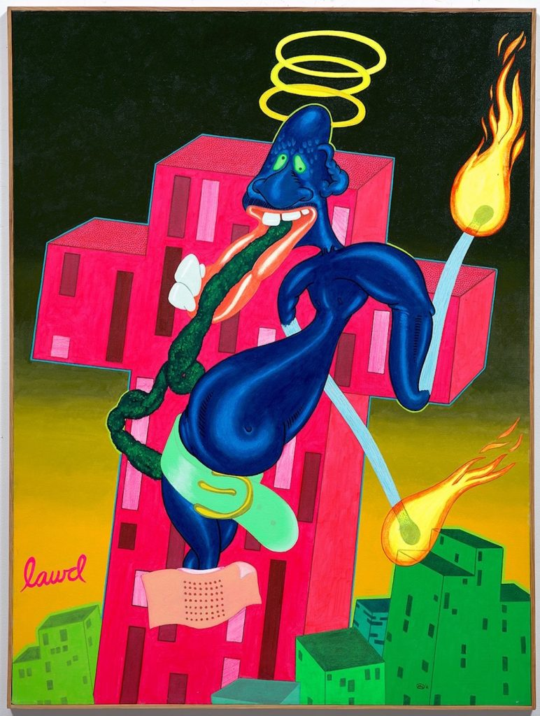 Peter Saul, Lawd (1968). Image courtesy Phillips.