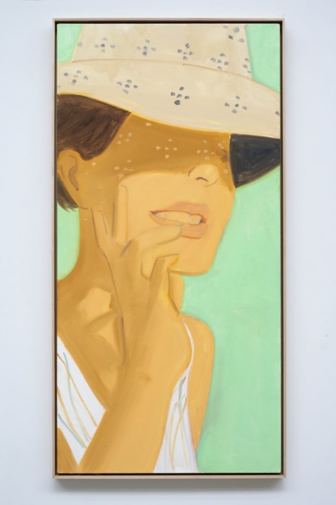 Alex Katz, <i>Vivien Vertical 1</i> (2020). Image courtesy the artist and Thaddaeus Ropac