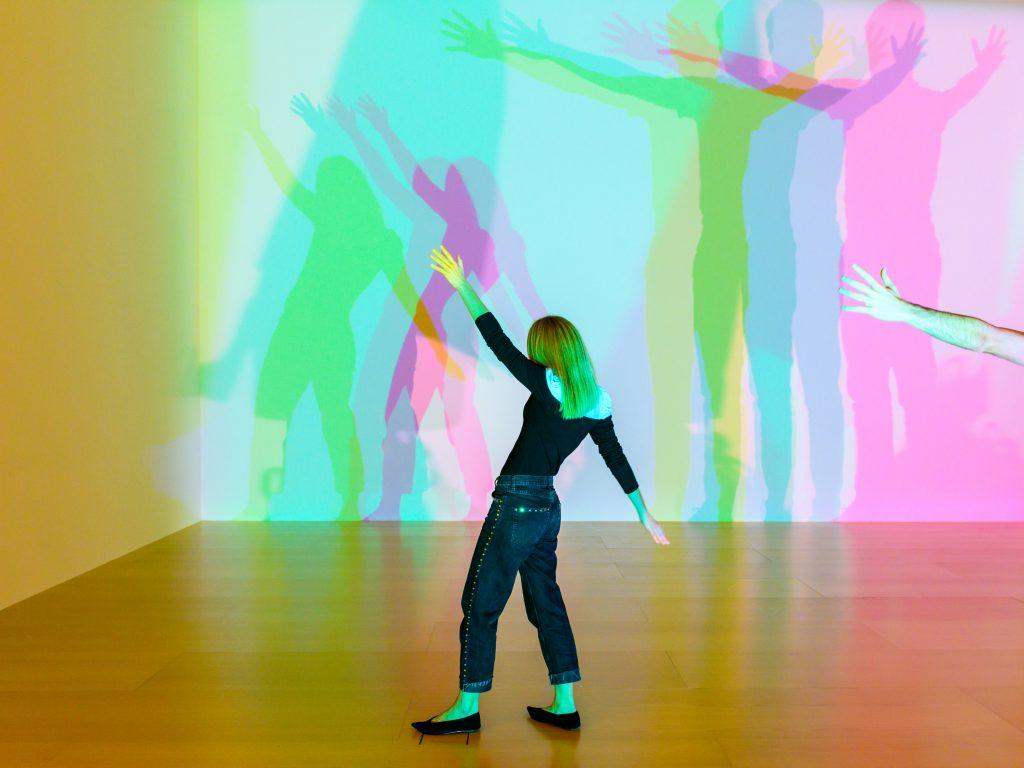 Olafur Eliasson, <i>Your uncertain shadow (colour)<i> (2010). Installation view: Guggenheim Museum Bilbao, 2020. Photo: Erika Ede © 2010 Olafur Eliasson.