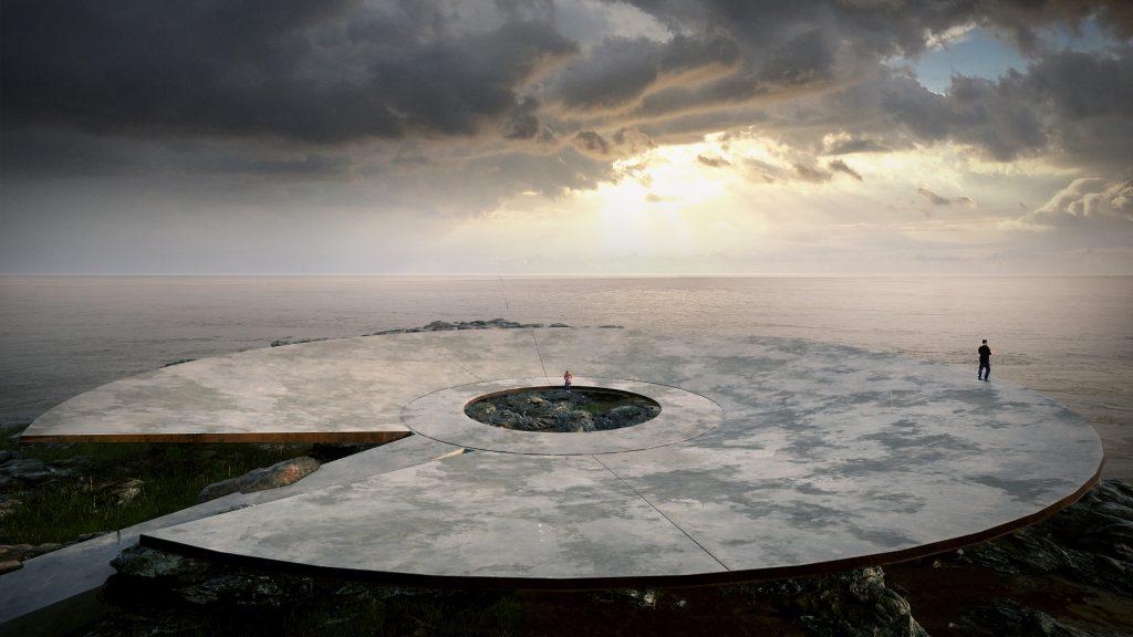 Gómez Platero, World Memorial to the Pandemic, Montevideo, Uruguay (rendering). Courtesy of Gómez Platero.