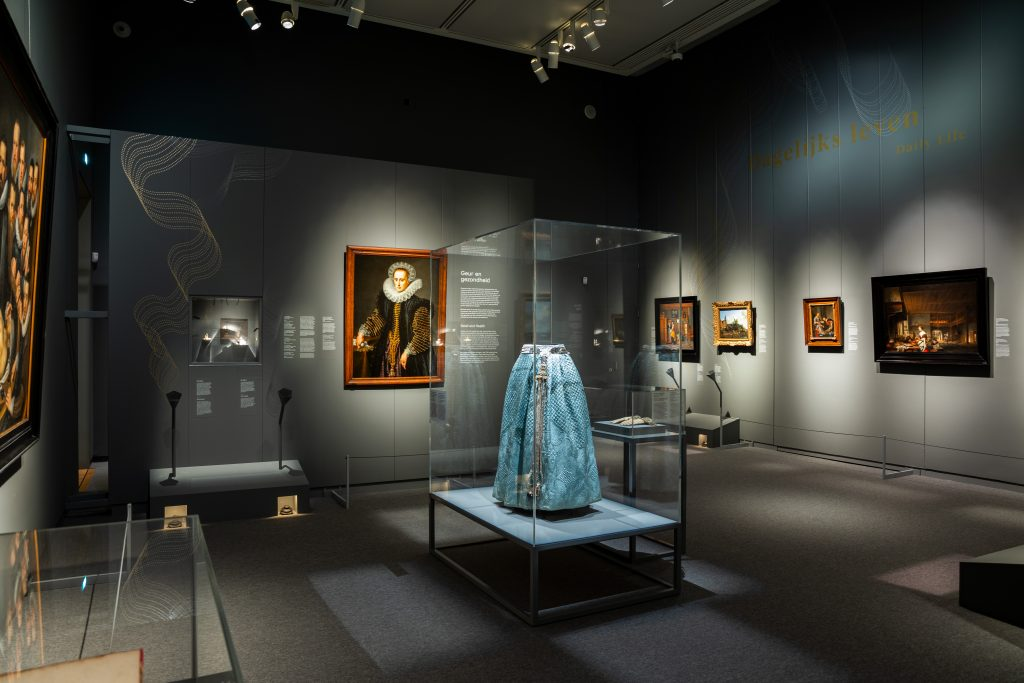 """Installation view, """"Fleeting – Scents in Colour"""" at the Mauritshuis Picture Gallery."""