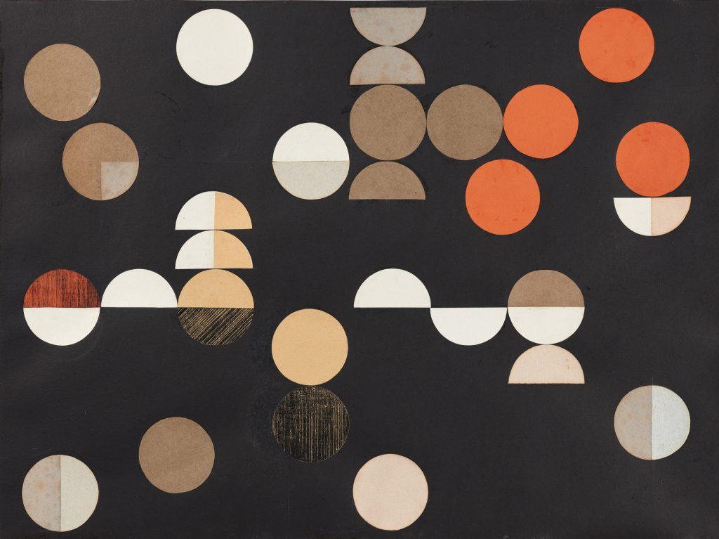 Sophie Taeuber-Arp; Composition à cercles et demi-cercles (1938). Arp Museum Bahnhof, Rolandseck, Remagen.