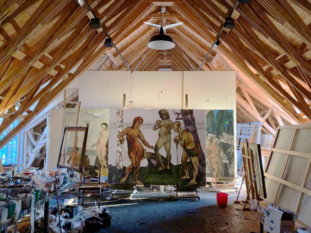 Markus Lüpertz Studio. Courtesy Michael Werner Gallery, New York, London, and Märkisch Wilmersdor.