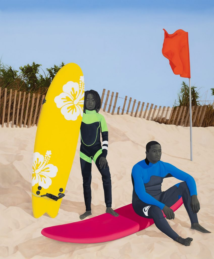 Amy Sherald, <i>An Ocean Away</i> (2020). © Amy Sherald. Courtesy the artist and Hauser & Wirth. Photo: Joseph Hyde.